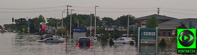 Rekordowe opady deszczu w Chicago