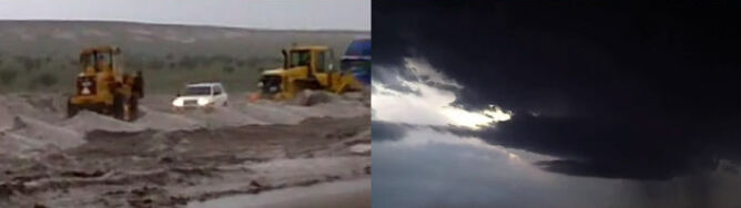 Niewiarygodna burza gradowa w Teksasie. Dywan gradzin miał metr grubości