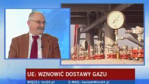 O co chodzi w konflikcie gazowym? Wyjaśnia Jan Malicki, dyrektor Studium Europy Wschodniej UW (TVN24)