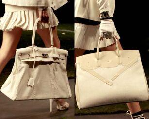 fc6a8786c7 Nowe wersje Birkin bag z pokazu mody lato 2010 roku (fot. materiały prasowe)