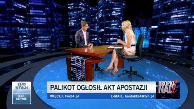 Janusz Palikot opowiada o tym, jak występował z Kościoła (TVN24)