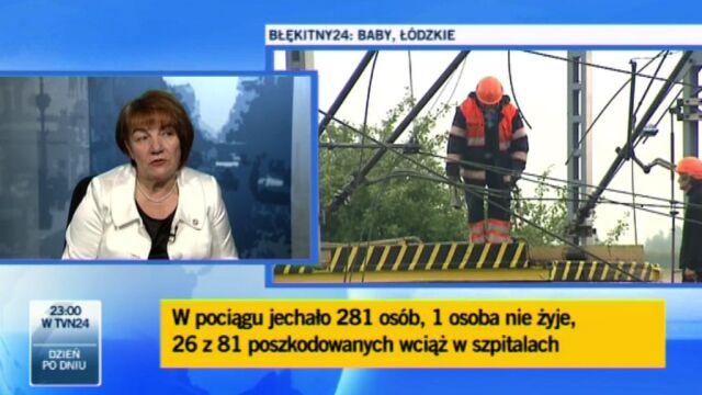 Pociąg jechałza szybko (TVN24)