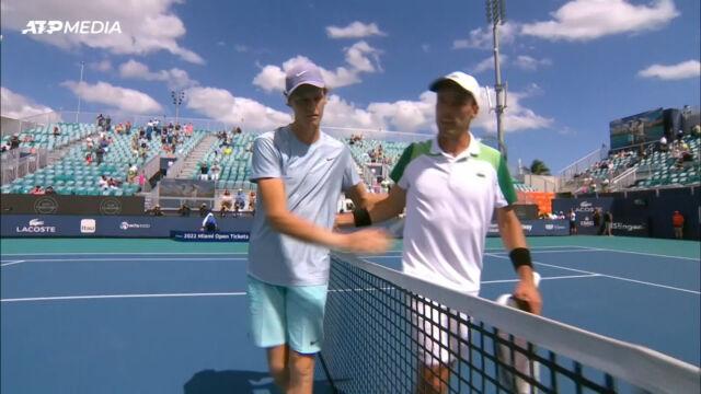 Sinner pokonał Bautistę-Aguta w półfinale turnieju ATP w Miami