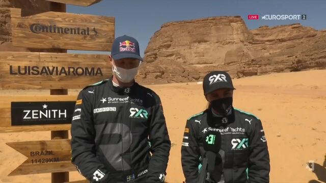 Kierowcy Rosberg X Racing po triumfie w Desert X Prix