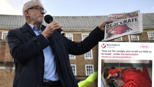 Zdjęcie chłopca na szpitalnej podłodze wzburzyło opozycję. Johnson w ogniu krytyki