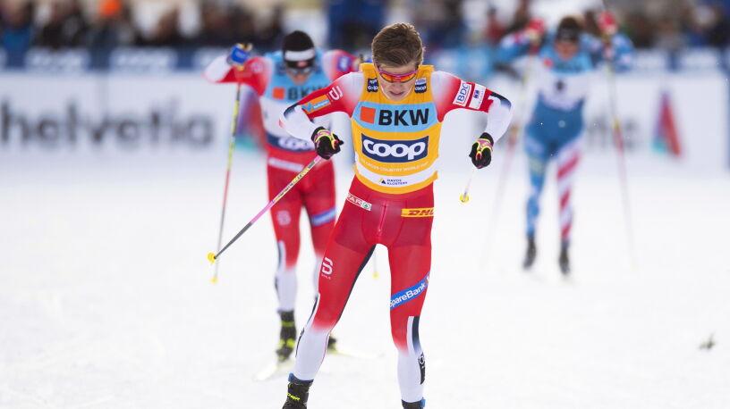 Zacięte sprinty w Davos.  Klaebo wygrał o pięć setnych
