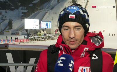 Kamil Stoch po kwalifikacjach w Vikersund