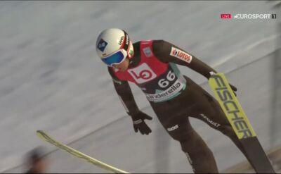 Skok Kamila Stocha z kwalifikacji do konkursu w Vikersund