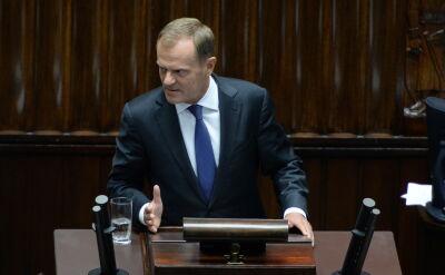 Całe wystąpienie Donalda Tuska w Sejmie