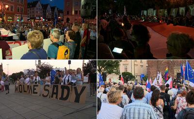 Protesty w obronie sądów w wielu miastach Polski
