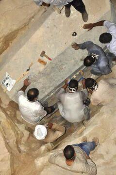 Sarkofag był 5 metrów pod powierzchnią ziemi