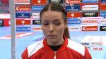 Dagmara Nocuń po meczu Norwegia - Polska w ME w piłce ręcznej kobiet