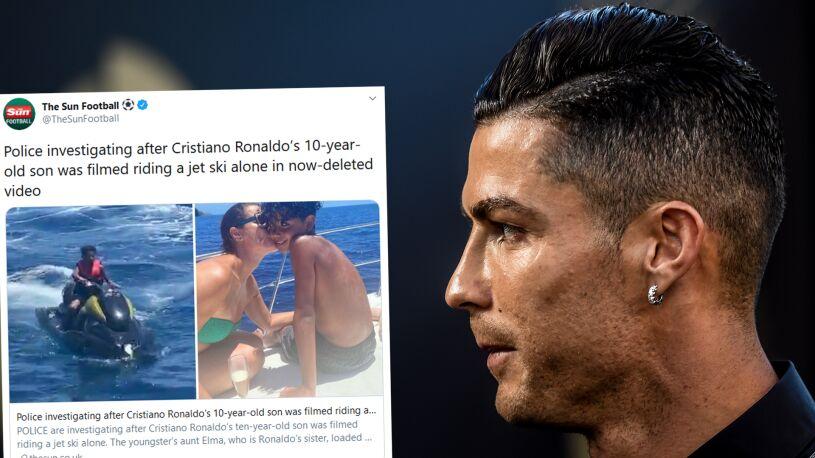 Przejażdżka syna Ronaldo pod lupą policji. Portugalczyk może za nią słono zapłacić