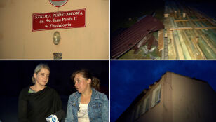 Znów uszkodzony budynek szkoły w Zbydniowie