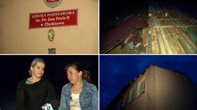 Nawałnica w województwie małopolskim. Znów uszkodzony budynek szkoły w Zbydniowie