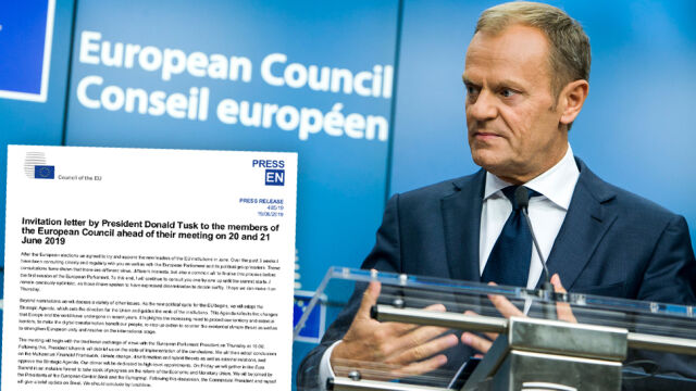 Tusk sent out an invitation letter to the 28 national leaders who would haggle over who to put in the five prominent positions in the EU (video from May 28)