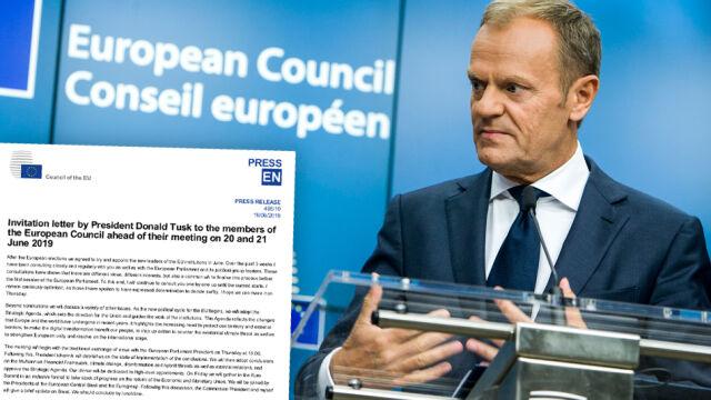 Kto pokieruje instytucjami unijnymi? Tusk napisał list