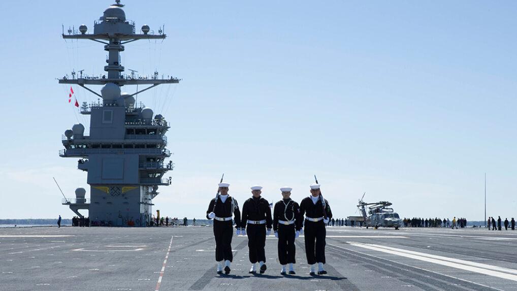 Nowy lotniskowiec US Navy USS Gerald R. Ford