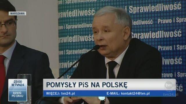 Jarosław Kaczyński zapowiada zmiany w prawie (TVN24)