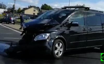 Zderzenie w Rzgowie z udziałem pojazdu SOP