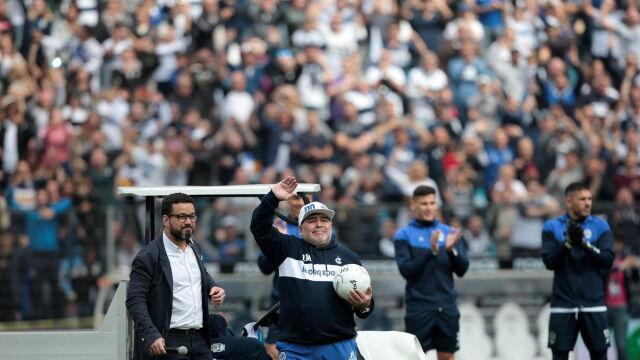 Maradona poprowadził pierwszy trening w nowym klubie. Szaleństwo to mało powiedziane
