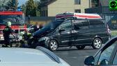Kolizja z udziałem samochodu SOP. Ranny kierowca