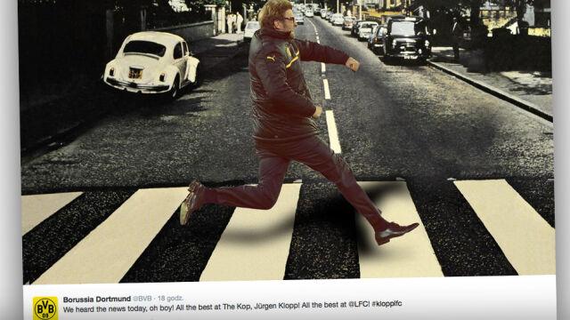 """Klopp jako piąty Beatles. Borussia """"złapała"""" go na pasach Abbey Road"""