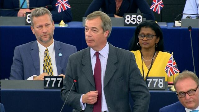 President of Brexit Party: Thank God we leave this place