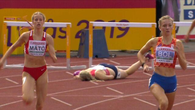 Bolesny upadek czeskiej biegaczki w mistrzostwach Europy do lat 20