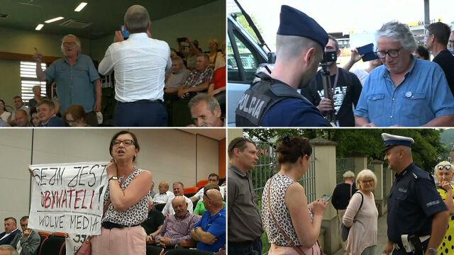 Dlaczego policja spisuje uczestników spotkań  z politykami PiS? Wiceminister odpowiada