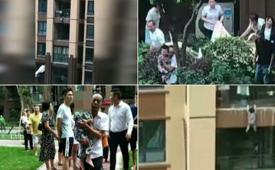 Trzylatek wypadł z 6. piętra balkonu. Złapali go przechodnie