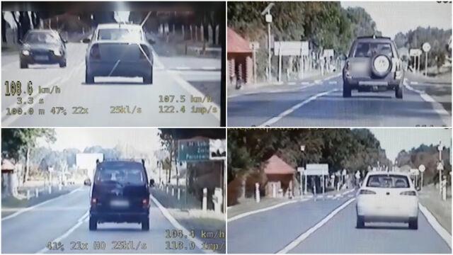 Czterej kierowcy po spotkaniu z policjantami z grupy SPEED stracili prawo jazdy