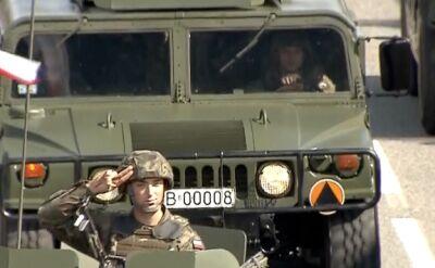 Sprzęt wojsk lądowych na defiladzie w Katowicach
