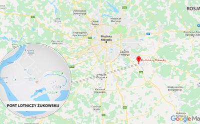 Samolot wylądował w pobliżu lotniska Żukowskij pod Moskwą