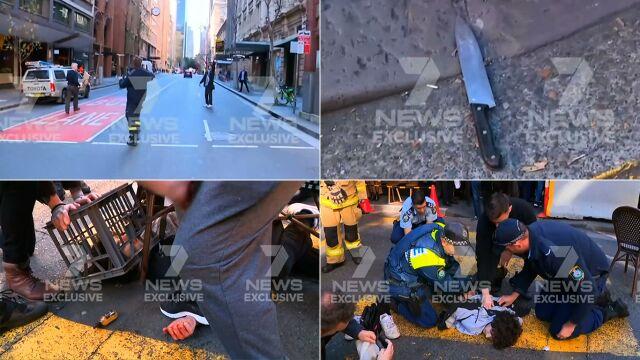 Atak nożownika w centrum Sydney. Napastnik obezwładniony przez przechodniów