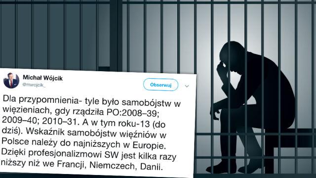Samobójstwa w więzieniach. Wiceminister rozlicza poprzedników, pomija kluczowe dane