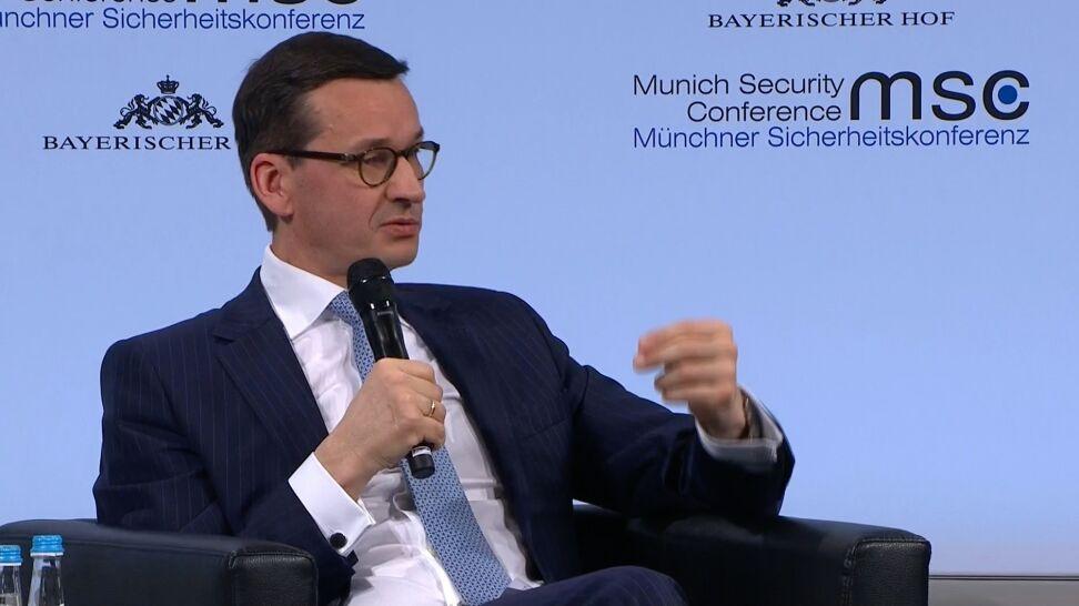 Morawiecki w Monachium zapytany o ustawę o IPN