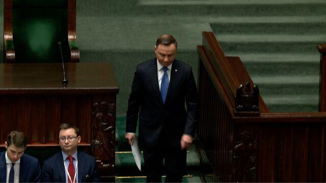Andrzej Duda wygłosił orędzie na pierwszym posiedzeniu Sejmu nowej kadencji