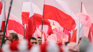 Far-right groups at Poland's independence anniversary march in Warsaw