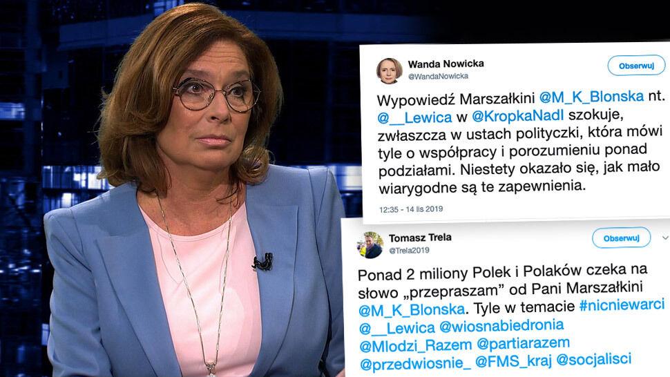 """Lewica: Kidawa-Błońska """"jest pogardliwa, chamska w swoich wypowiedziach"""""""