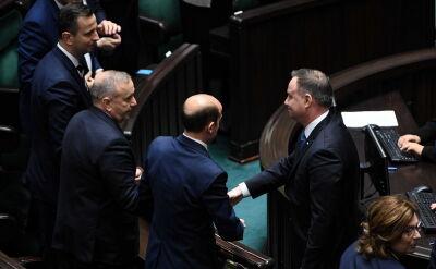 Prezydent podał rękę posłom i wspomniał o Aleksandrze Kwaśniewskim