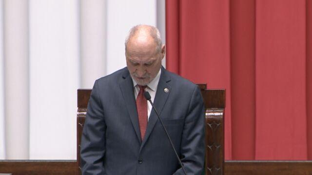 Macierewicz: choć ten Sejm jest bardzo zróżnicowany, to większość wsparła te ugrupowania, które odwoływały się do wartości narodowych, niepodległościowych, katolickich
