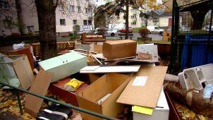 Bałagan w śmieciach