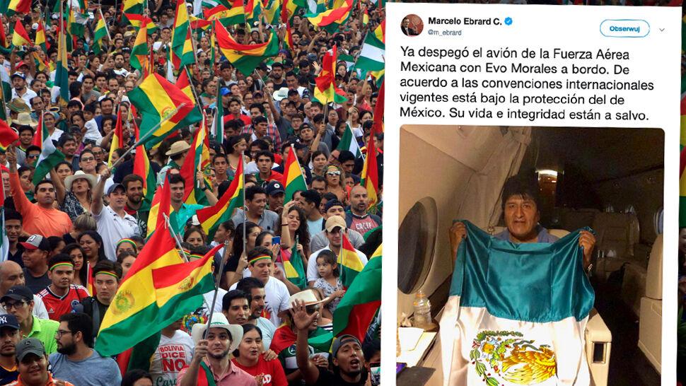 """""""Siostry i bracia, wyjeżdżam do Meksyku"""". Morales otrzymał azyl polityczny"""