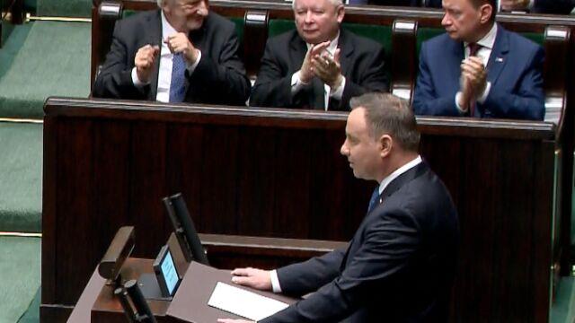Prezydent: ta rozpoczynająca się IX kadencja Sejmu RP niepodległej i suwerennej Rzeczpospolitej jest niezwykłym czasem dla posłów
