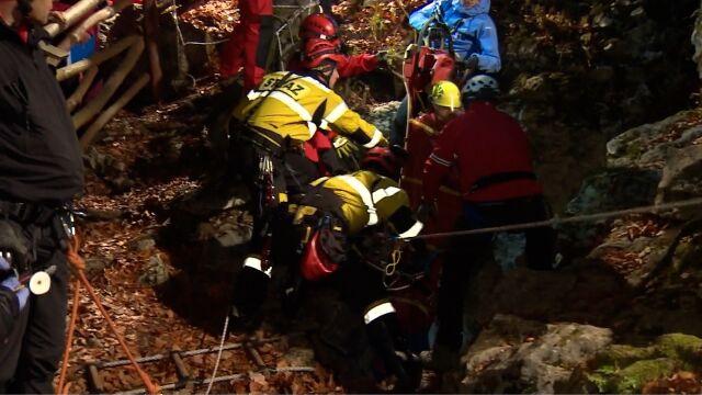 Grotołaz spadł w głąb Jaskini Wszystkich Świętych. Osiem godzin akcji ratunkowej