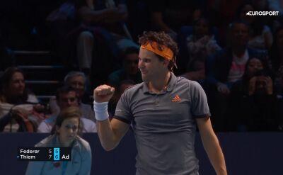 Skrót meczu Federer - Thiem w ATP Finals