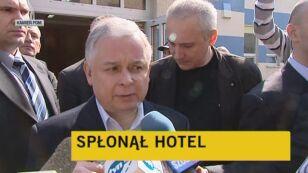 Prezydent po spotkaniu z rannymi (TVN24)