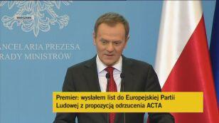 Premier Donald Tusk o ACTA - cz.2