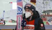 Kubacki po sobotnim konkursie w Klingenthal